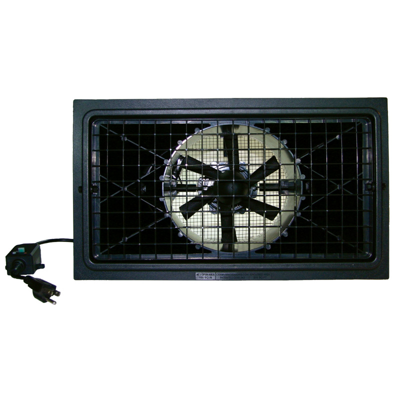 Crawl Space Vent Fans : Crawl space power fan new product door