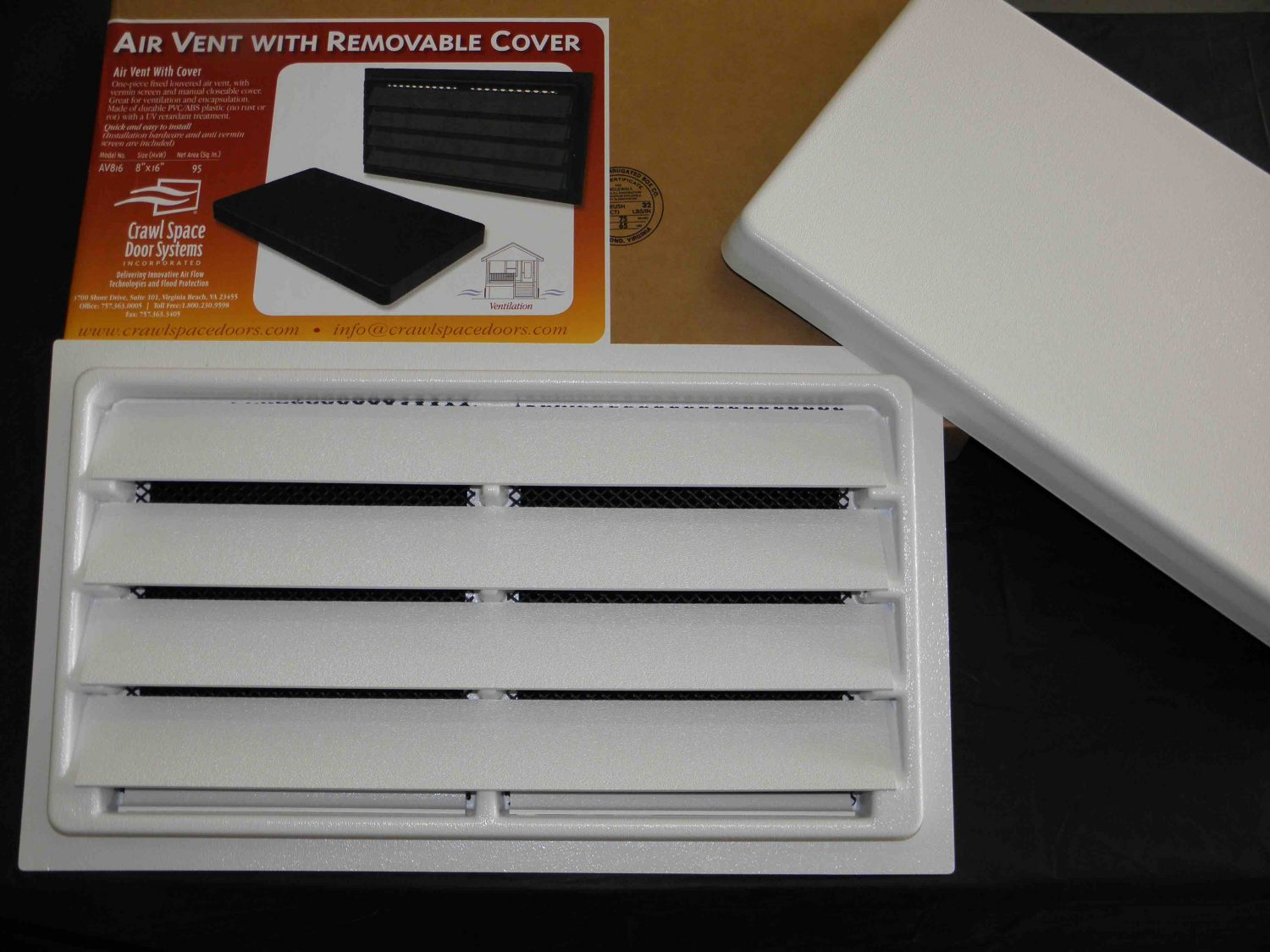 The manual foundation air vent with removable cover comes in black and  #946124