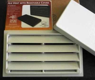 foundation air vent with removable cover