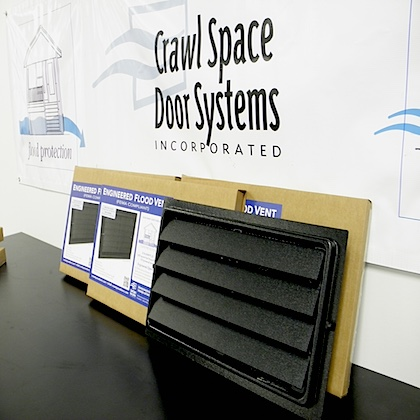 Engineered Flood Vents 8x16 Crawl Space Door Systems