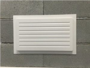 Outward Mounted Vent Cover-white