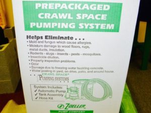 Zoeller Crawl Space Pumping System